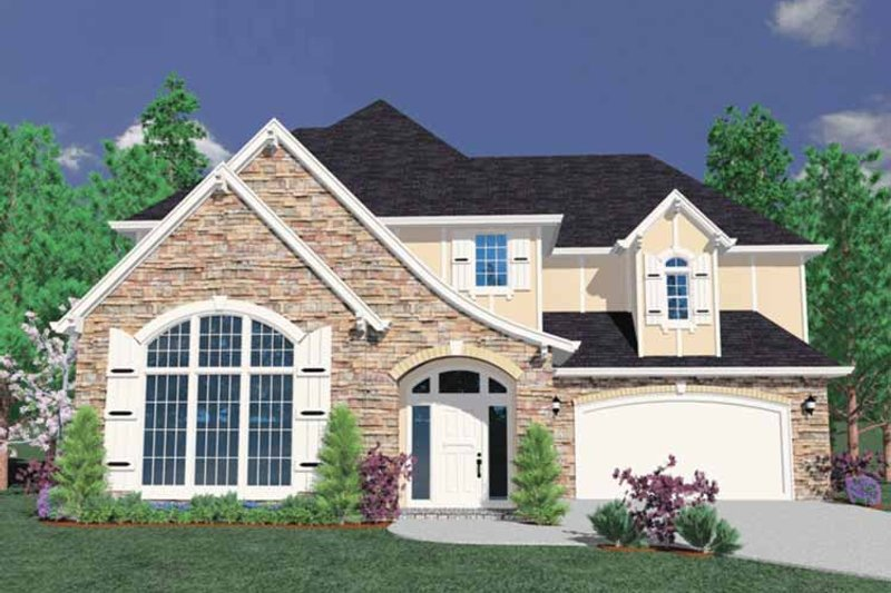 Traditional Exterior - Front Elevation Plan #509-363