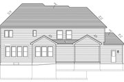 Craftsman Style House Plan - 4 Beds 2.5 Baths 2585 Sq/Ft Plan #1010-93 Exterior - Rear Elevation