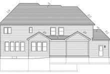 House Plan Design - Craftsman Exterior - Rear Elevation Plan #1010-93