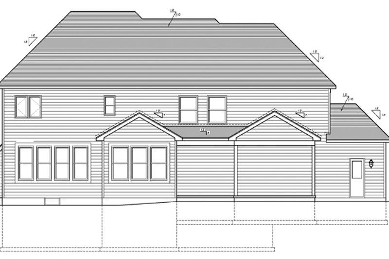 Craftsman Exterior - Rear Elevation Plan #1010-93 - Houseplans.com