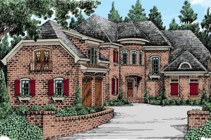 Country Exterior - Front Elevation Plan #927-439