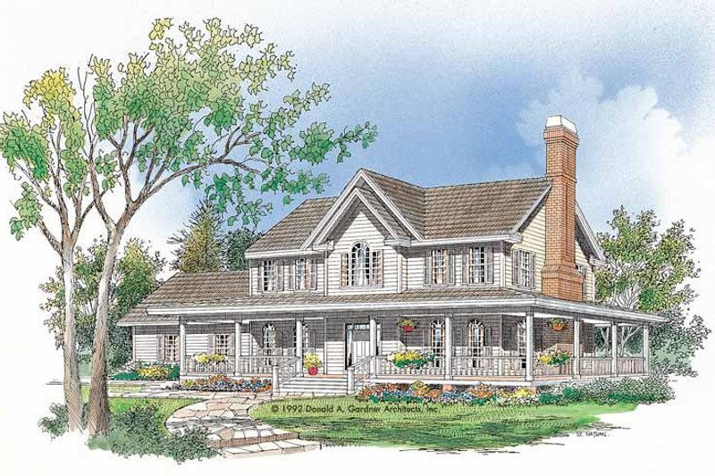 Architectural House Design - Victorian Exterior - Front Elevation Plan #929-116