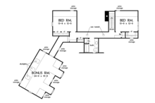Craftsman Floor Plan - Upper Floor Plan Plan #929-973