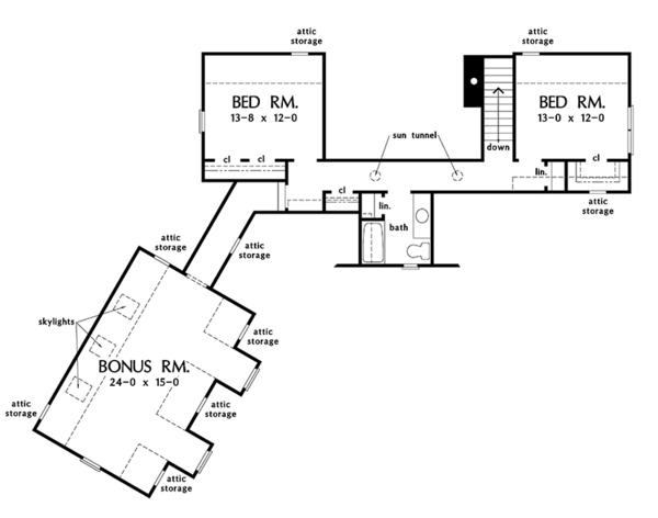 Craftsman Floor Plan - Upper Floor Plan Plan #929-973