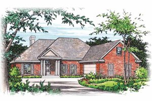 House Plan Design - Colonial Exterior - Front Elevation Plan #15-295