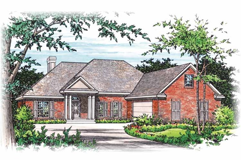 Colonial Exterior - Front Elevation Plan #15-295