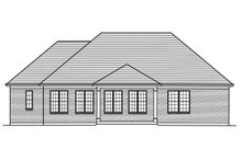Dream House Plan - Ranch Exterior - Rear Elevation Plan #46-881