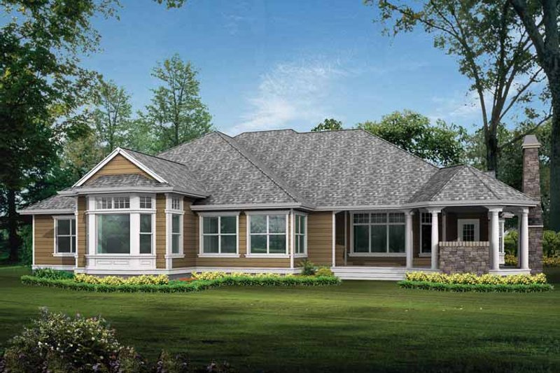 Craftsman Exterior - Rear Elevation Plan #132-278 - Houseplans.com