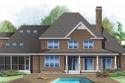 Traditional Style House Plan - 4 Beds 3.5 Baths 3133 Sq/Ft Plan #929-1017 Exterior - Rear Elevation