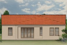House Plan Design - Mediterranean Exterior - Rear Elevation Plan #1058-3