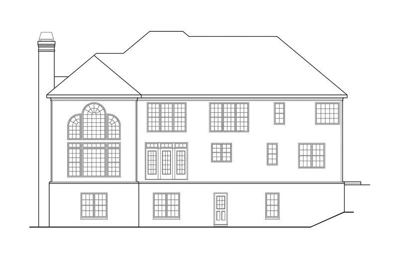 Classical Exterior - Rear Elevation Plan #927-605 - Houseplans.com