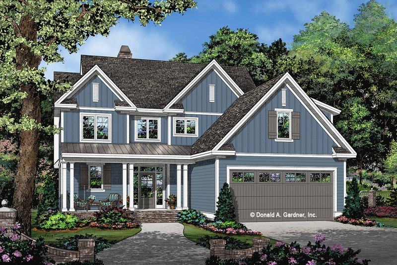 Craftsman Style House Plan - 3 Beds 2.5 Baths 2118 Sq/Ft Plan #929-1082 Exterior - Front Elevation