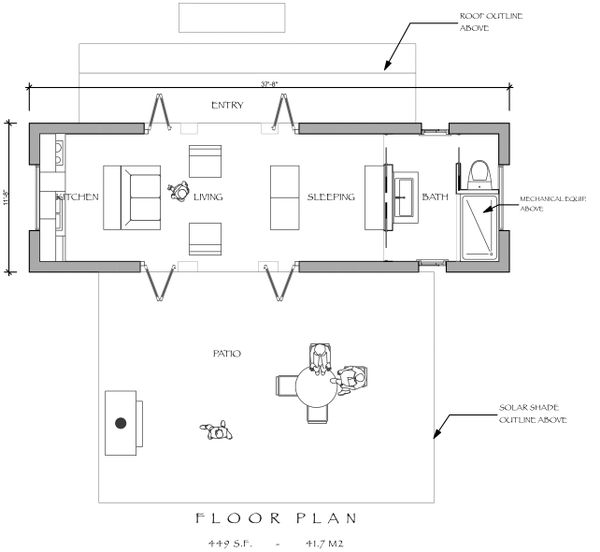 Modern Floor Plan - Main Floor Plan Plan #535-7