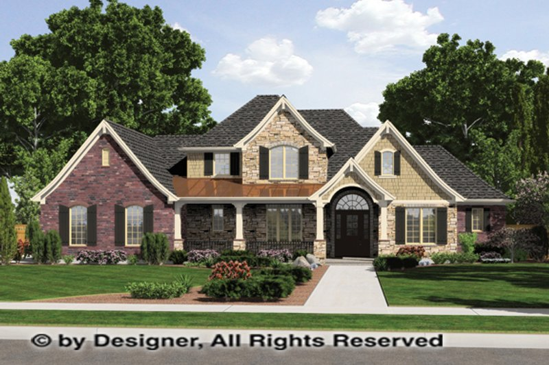Architectural House Design - Country Exterior - Front Elevation Plan #46-834