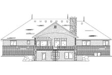 House Plan Design - European Exterior - Rear Elevation Plan #5-388