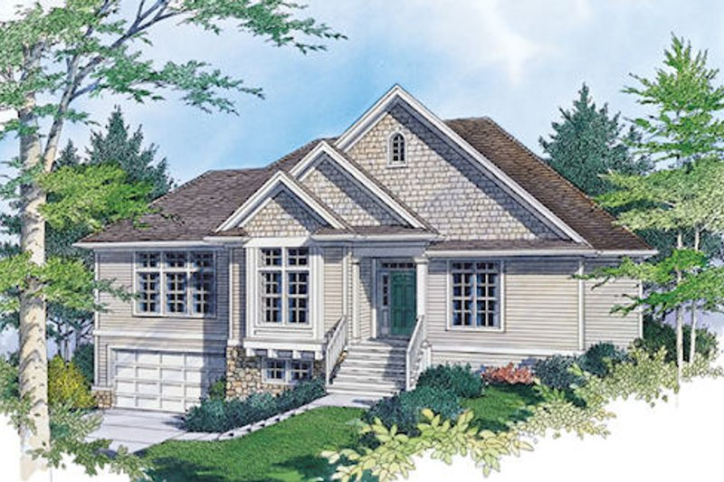 Traditional Exterior - Front Elevation Plan #48-421 - Houseplans.com