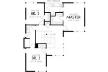 Contemporary Floor Plan - Upper Floor Plan Plan #48-692