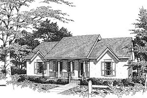 Architectural House Design - European Exterior - Front Elevation Plan #14-128