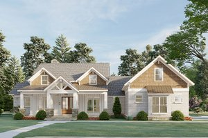 Farmhouse Exterior - Front Elevation Plan #923-197