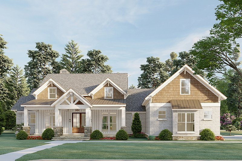 Dream House Plan - Farmhouse Exterior - Front Elevation Plan #923-197