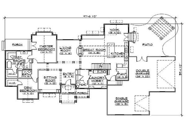 Bungalow Floor Plan - Main Floor Plan Plan #5-380
