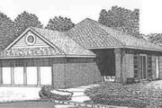 Traditional Style House Plan - 2 Beds 2 Baths 1205 Sq/Ft Plan #310-477 Exterior - Front Elevation