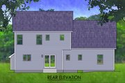 Traditional Style House Plan - 3 Beds 2.5 Baths 1672 Sq/Ft Plan #1010-236 Exterior - Rear Elevation