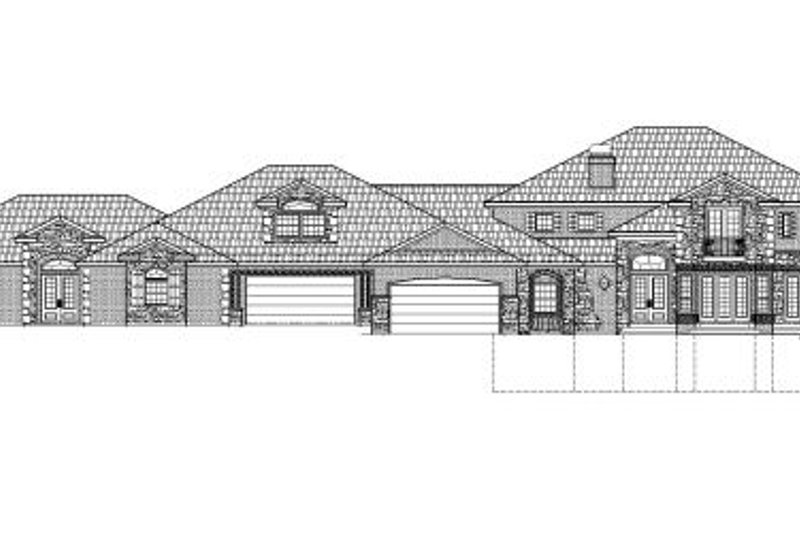 Traditional Style House Plan - 6 Beds 8.5 Baths 12421 Sq/Ft Plan #24-252 Exterior - Front Elevation