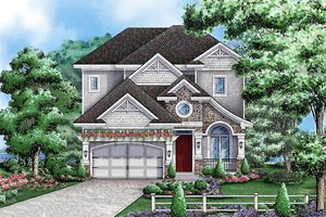Traditional Exterior - Front Elevation Plan #27-470