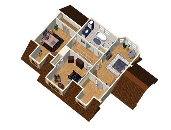 Country Floor Plan - Upper Floor Plan Plan #25-4709