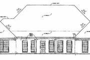 European Style House Plan - 3 Beds 2.5 Baths 2746 Sq/Ft Plan #36-220 Exterior - Rear Elevation