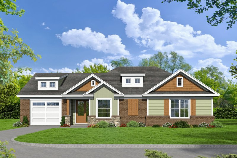 Dream House Plan - Craftsman Exterior - Front Elevation Plan #932-25
