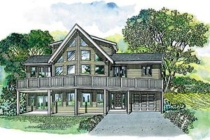 Exterior - Front Elevation Plan #47-372