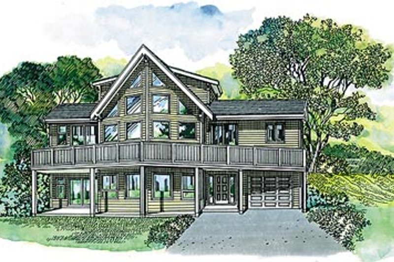 House Plan - 3 Beds 2 Baths 1692 Sq/Ft Plan #47-372 Exterior - Front Elevation