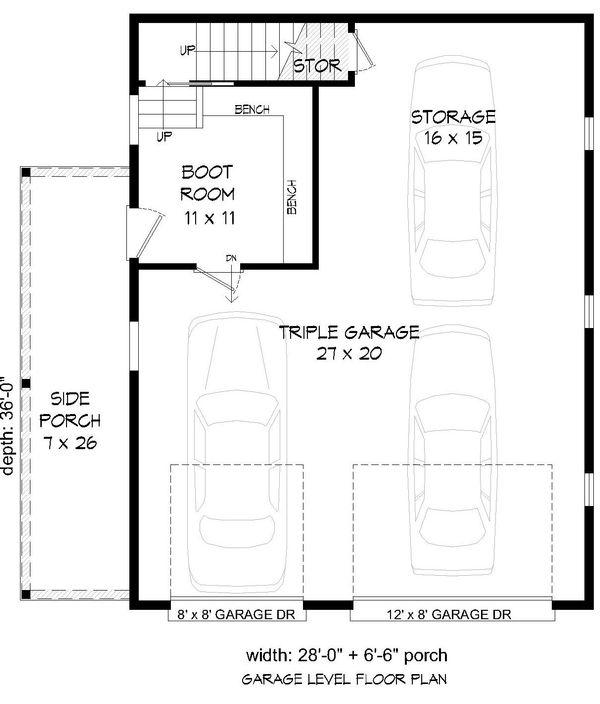 Cabin Floor Plan - Main Floor Plan Plan #932-214