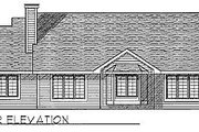 Traditional Style House Plan - 3 Beds 2 Baths 1644 Sq/Ft Plan #70-163 Exterior - Rear Elevation