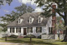 Architectural House Design - Colonial Exterior - Front Elevation Plan #137-348