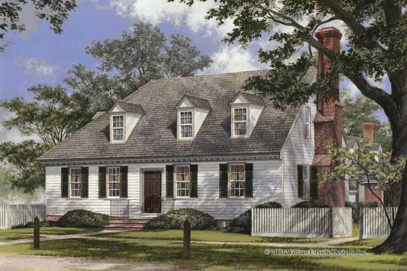 Colonial Exterior - Front Elevation Plan #137-348 - Houseplans.com