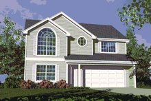 Colonial Exterior - Front Elevation Plan #509-145