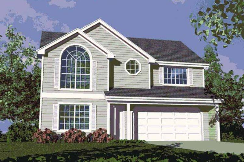 Colonial Exterior - Front Elevation Plan #509-145 - Houseplans.com