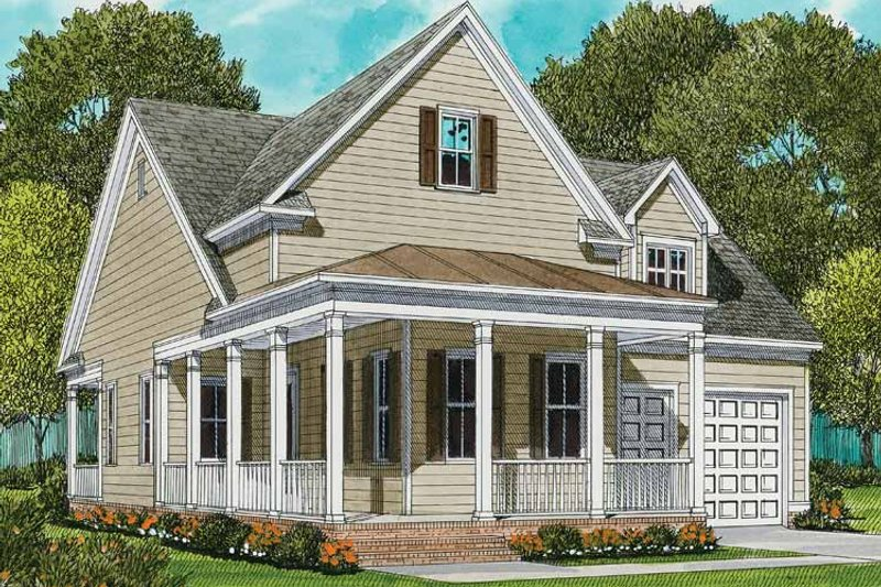 Country Exterior - Front Elevation Plan #413-893 - Houseplans.com