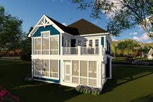 House Design - Craftsman Exterior - Rear Elevation Plan #70-1426