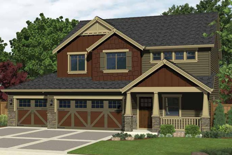 Craftsman Exterior - Front Elevation Plan #943-29