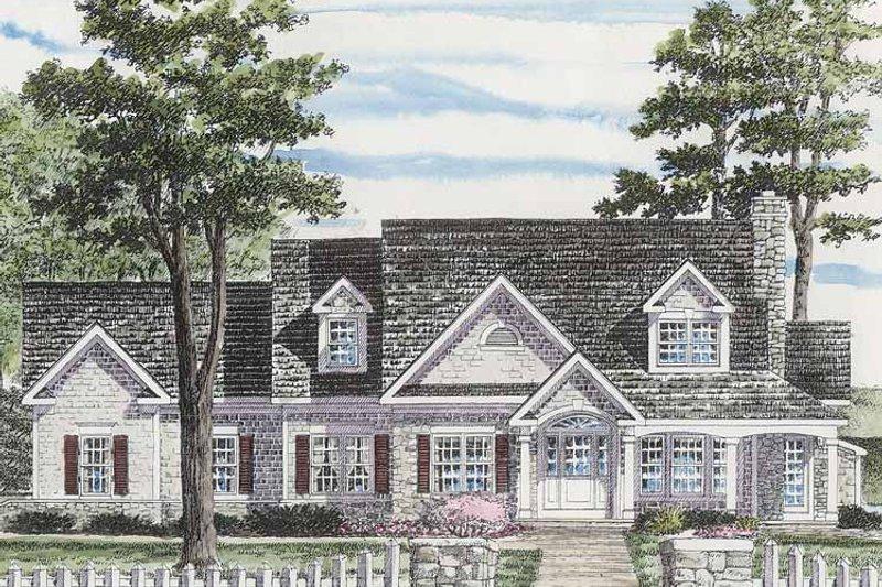 Colonial Exterior - Front Elevation Plan #316-255 - Houseplans.com