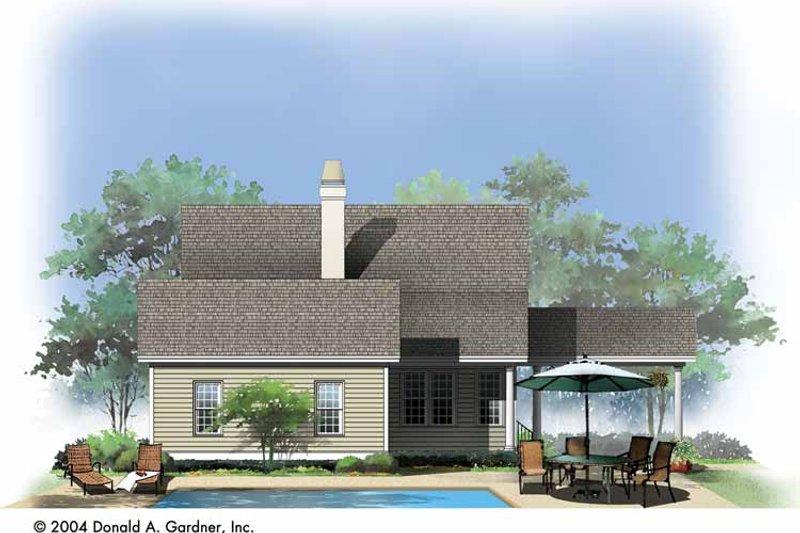Traditional Exterior - Rear Elevation Plan #929-743 - Houseplans.com