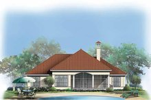 Mediterranean Exterior - Rear Elevation Plan #929-295