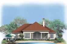 Dream House Plan - Mediterranean Exterior - Rear Elevation Plan #929-295
