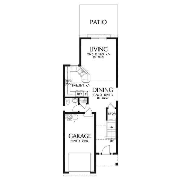 Craftsman Floor Plan - Main Floor Plan Plan #48-937