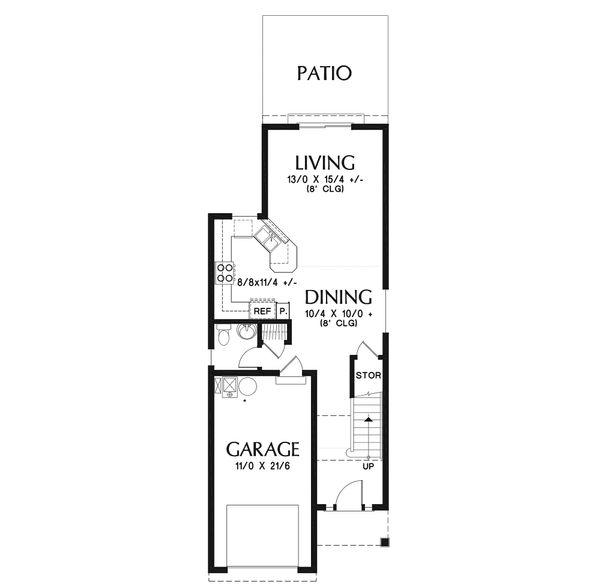 House Plan Design - Craftsman Floor Plan - Main Floor Plan #48-937