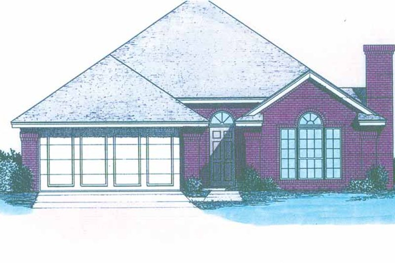 Ranch Exterior - Front Elevation Plan #310-1217